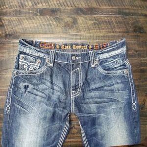 ROCK REVIVAL Paul Boot Jeans | 38 LONG!